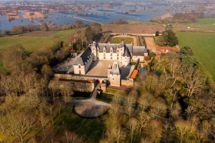 Photo aerienne du chateau de Goulaine